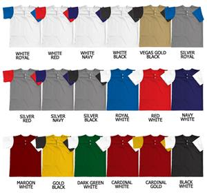 Baseball Pro-Weight Placket w/Contrasting Sleeves