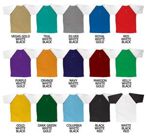 Baseball Double Knit Poly 2 Button Placket Jersey