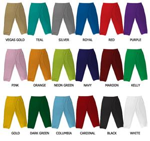 Baseball/Softball Double Knit Poly Pull Up Pants