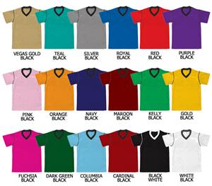 Soccer V-Neck Dazzle Cloth Jersey Contrast Piping