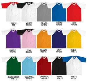 Soccer V-Neck Dazzle Cloth Jersey Raglan Sleeve