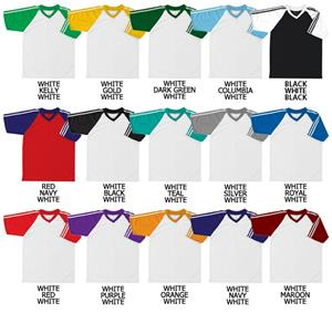Soccer Dazzle Cloth Jersey Raglan Sleeve w/Stripes