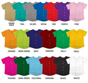 Softball Double Knit Full Button Jerseys Closeout