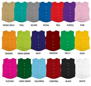 Softball Full Button Cool Mesh Sleeveless Jerseys