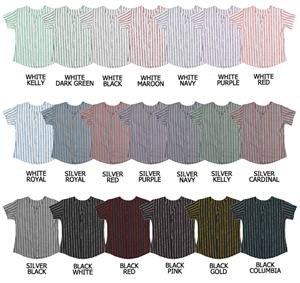 Softball Full Button Knitted Pinstripe Jerseys