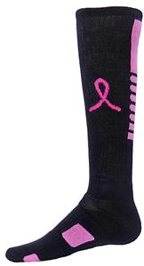 Red Lion Pegasus Pink Ribbon Athletic Socks