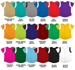 Softball Pro-Style Full Button Double Knit Jerseys