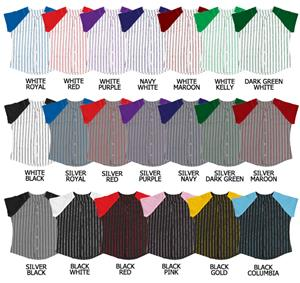 Softball Knitted Color Pinstripe Jerseys