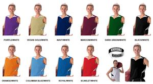 Alleson 555RW Womens Reversible Basketball Jerseys