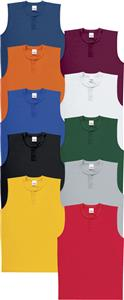 Mesh Sleeveless 2-Button Baseball Jerseys Closeout