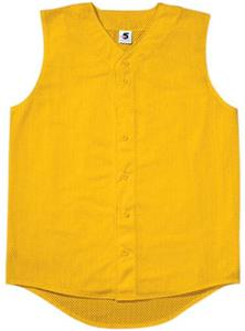 Mesh Sleeveless Button-Front Baseball Jerseys