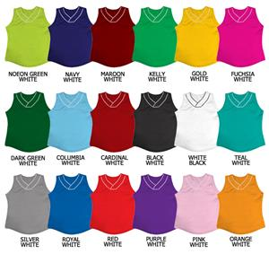 Softball Double Knit Jersey w/White Collar