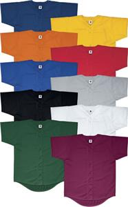 Mesh Button-Front Baseball Jerseys-Closeout