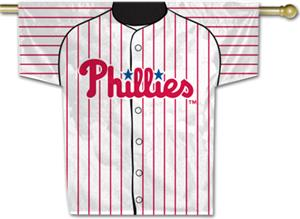 MLB Philadelphia Phillies 2-Sided Jersey Banner