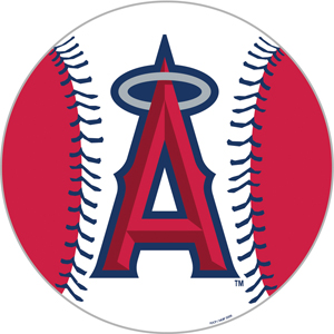 MLB Anaheim Angels 12&quot; Die Cut Car Magnets