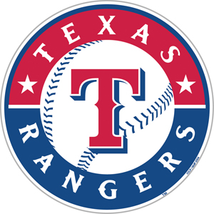 MLB Texas Rangers 12&quot; Die Cut Car Magnets
