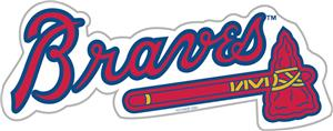"MLB Atlanta Braves 12"" Die Cut Car Magnets"