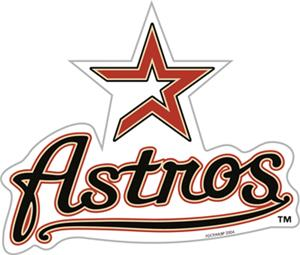 MLB Houston Astros 12&quot; Die Cut Car Magnets
