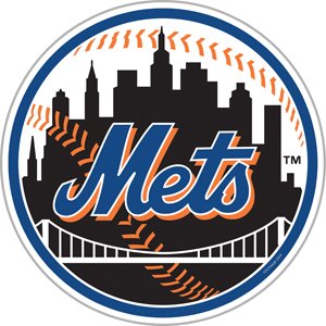 MLB New York Mets 12&quot; Die Cut Car Magnets
