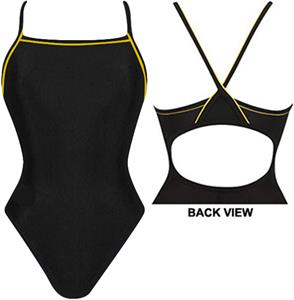 Adoretex Womens Thin Strap Swimsuit W/Piping