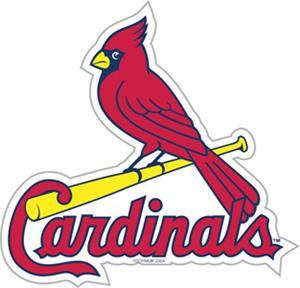 "MLB St. Louis Cardinals 12"" Die Cut Car Magnets"