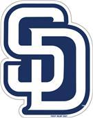 """MLB San Diego Padres 12"""" Die Cut Car Magnets"""