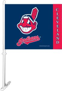 "MLB Cleveland Indians 2-Sided 11"" x 14"" Car Flag"