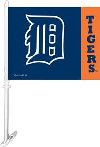 "MLB Detroit Tigers 2-Sided 11"" x 14"" Car Flag"