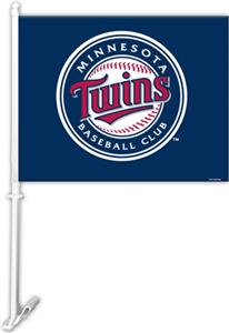 MLB Minnesota Twins 2-Sided 11&quot; x 14&quot; Car Flag