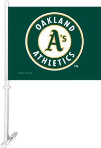 "MLB Oakland Athletics 2-Sided 11"" x 14"" Car Flag"