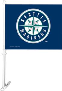 "MLB Seattle Mariners 2-Sided 11"" x 14"" Car Flag"