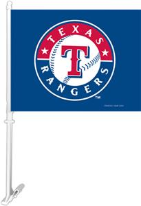 "MLB Texas Rangers 2-Sided 11"" x 14"" Car Flag"