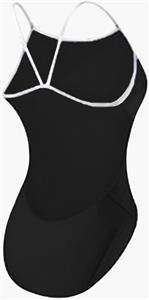 Adoretex Womens Poly Thin Strap Open Back Swimsuit