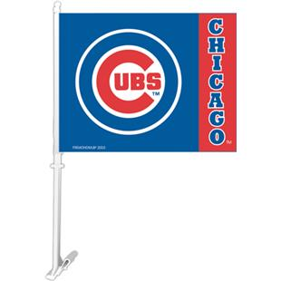 "MLB Chicago Cubs 2-Sided 11"" x 14"" Car Flag"