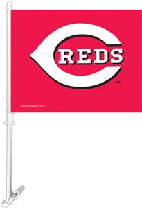 "MLB Cincinnati Reds 2-Sided 11"" x 14"" Car Flag"