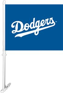 "MLB Los Angeles Dodgers 2-Sided 11"" x 14"" Car Flag"
