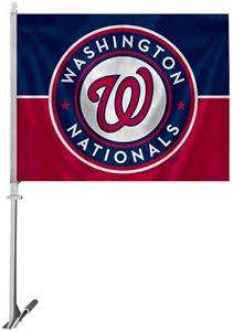 MLB Washington Nationals 2-Sided 11&quot;x14&quot; Car Flag