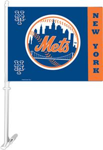 "MLB New York Mets 2-Sided 11"" x 14"" Car Flag"