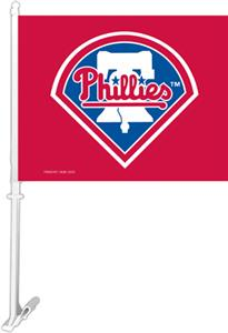 MLB Philadelphia Phillies 2-Sided 11&quot;x14&quot; Car Flag