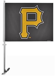 "MLB Pittsburgh Pirates 2-Sided 11"" x 14"" Car Flag"