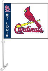 "MLB St. Louis Cardinals 2-Sided 11"" x 14"" Car Flag"