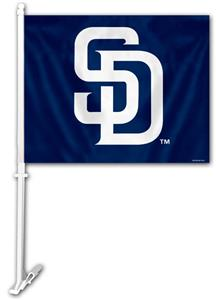 "MLB San Diego Padres 2-Sided 11"" x 14"" Car Flag"