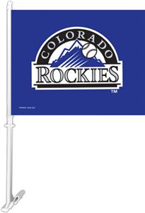 "MLB Colorado Rockies 2-Sided 11"" x 14"" Car Flag"