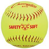 "Champion 12"" Syn. Leather Safety Softballs (DOZEN)"