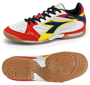 Diadora Quinto ID Futsal Soccer Shoes - White/Red