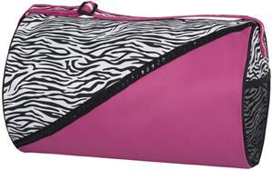 Sassi Designs Zebra Boutique Round Duffel Bag