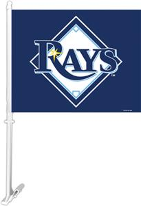 "MLB Tampa Bay Rays 2-Sided 11"" x 14"" Car Flag"