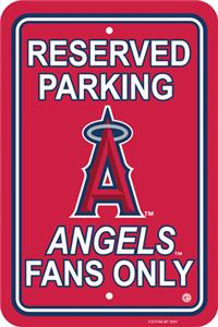 MLB Anaheim Angels Plastic Parking Sign