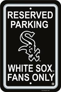 MLB Chicago White Sox Plastic Parking Sign