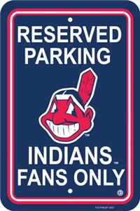 MLB Cleveland Indians Plastic Parking Sign